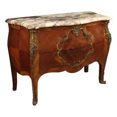 20th Century French Dresser in Rosewood with Marble Top
