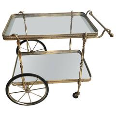 Decorative French Brass Drinks Trolley or Bar Cart