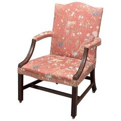 George III Carved Mahogany Chippendale Period Armchair