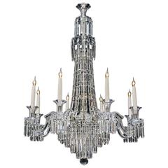 Fine Early Victorian Tent and Waterfall Chandelier