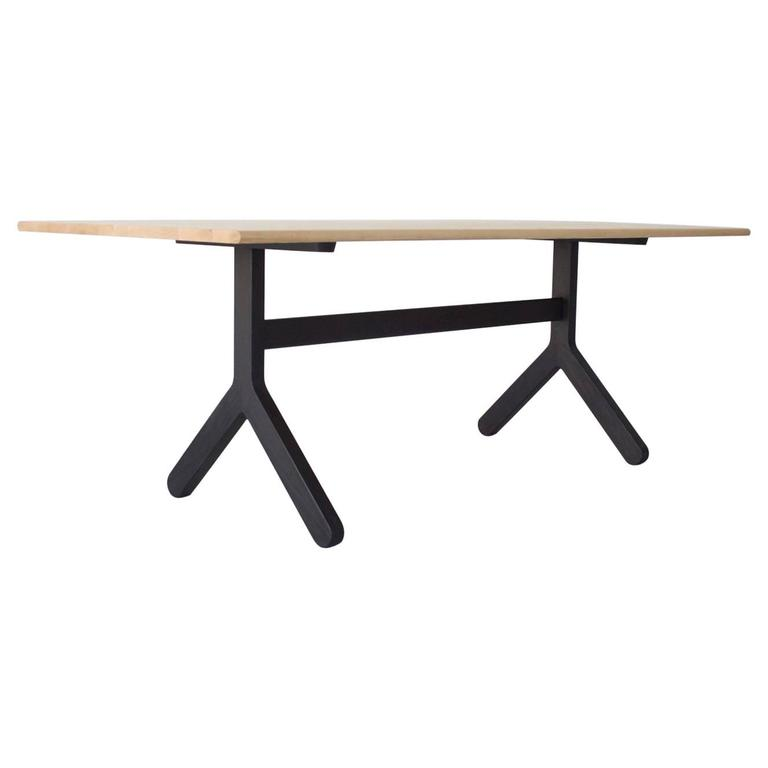 modern trestle dining table 1