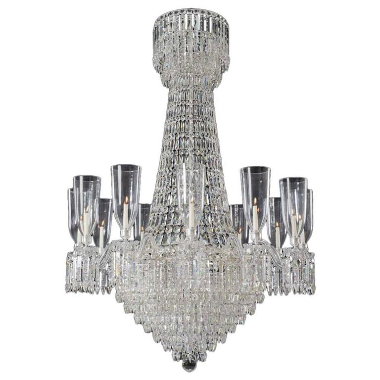 Fine Victorian Twelve-Light Cut-Glass Antique Chandelier of Exceptional Size 1