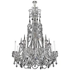 Fine Quality Eight Light Cut-Glass Antique Chandelier by F&C Osler