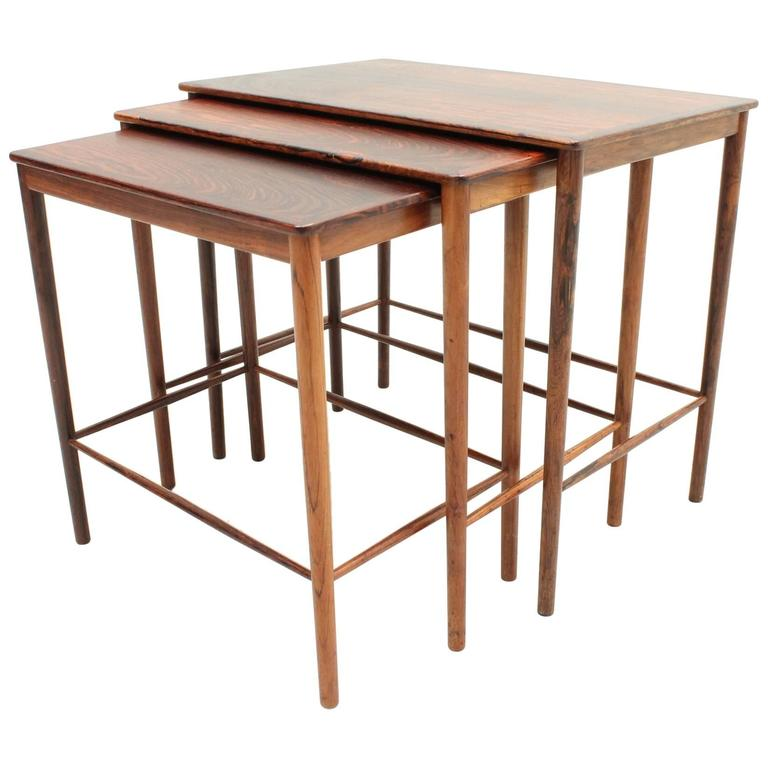 Awesome Rosewood Nesting Tables By Grete Jalk For P.Jeppesens Møbelsnedkeri For  Sale At 1stdibs Ideas