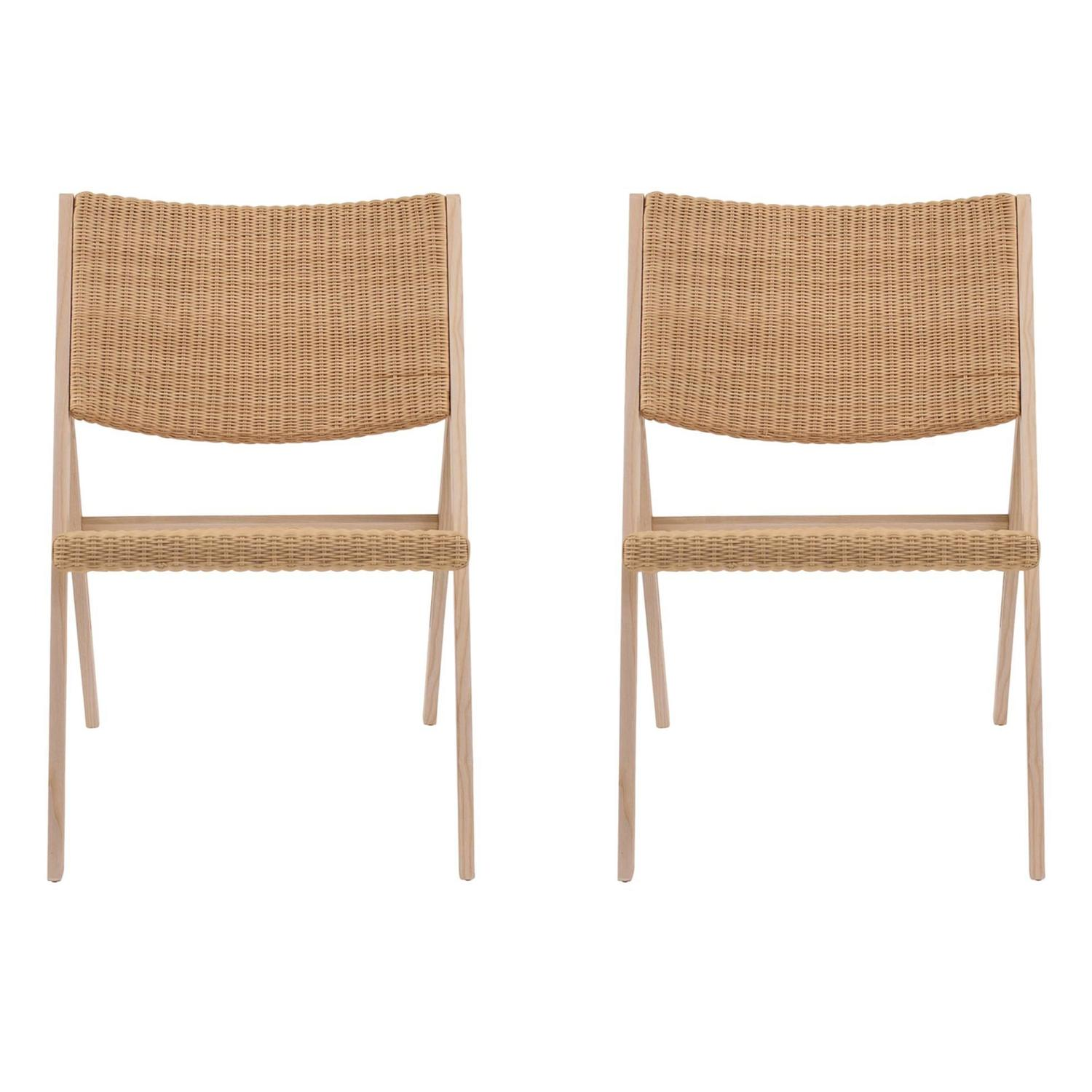 Wicker Folding Indoor Outdoor Chairs by Gio Ponti for Molteni