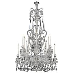 Fine Twelve-Light Cut-Glass Chandeliers by F&C Osler