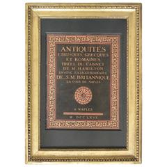 William Hamilton First Edition Frontispiece