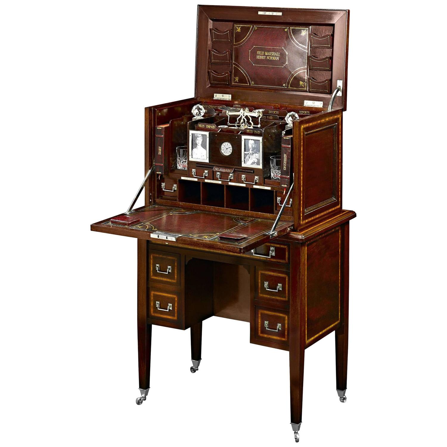Lovely British Field Marshal's Campaign Desk at 1stdibs RR36