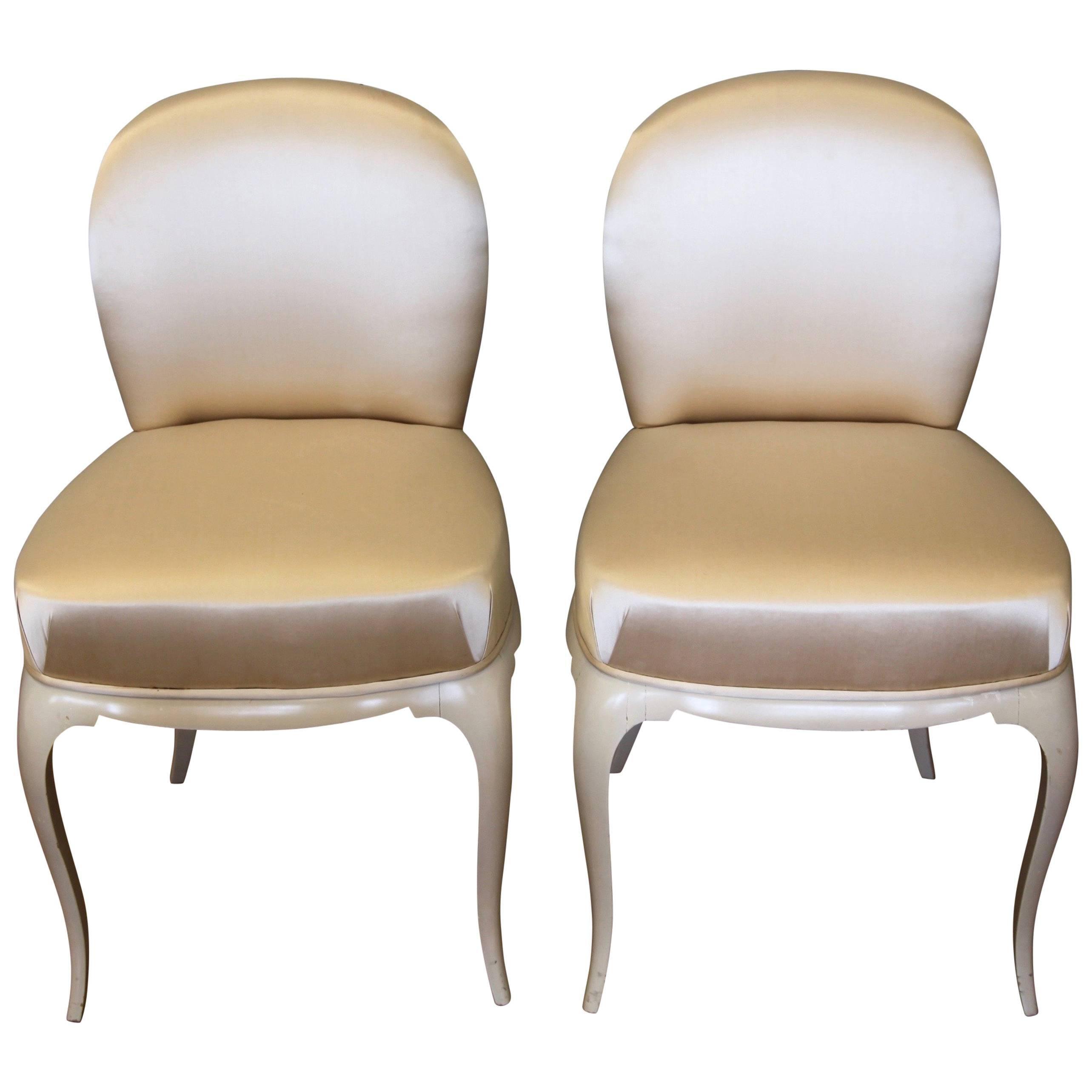 Pair of René Prou Chairs, 1930s, Art Deco