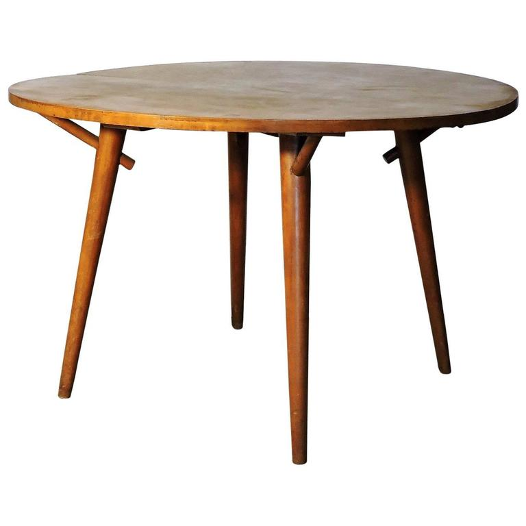 Russel Wright American Modern Extension Dining Table For Conant Ball Sale