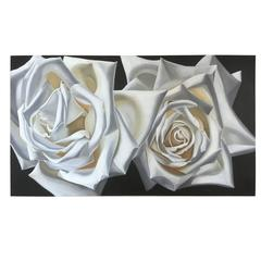 "Willa Spivak ""Large Roses"" Oil on Canvas"