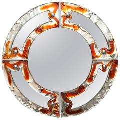 Two Mazzega Glass Mirrors