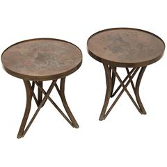 Pair of Circular Laverne Side Tables