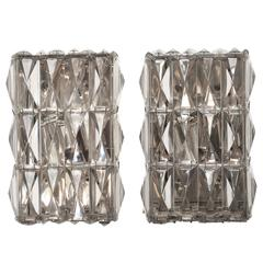 Pair of Vintage Austrian Crystal Sconces