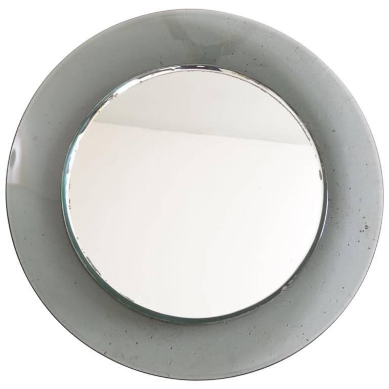 Concave Mirror Attributed to Fontana Arte, Italy, circa 1960