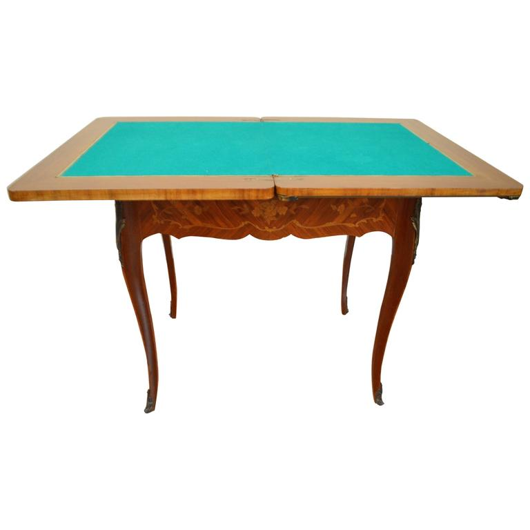 Louis XV Style Inlay Wood Game's Table