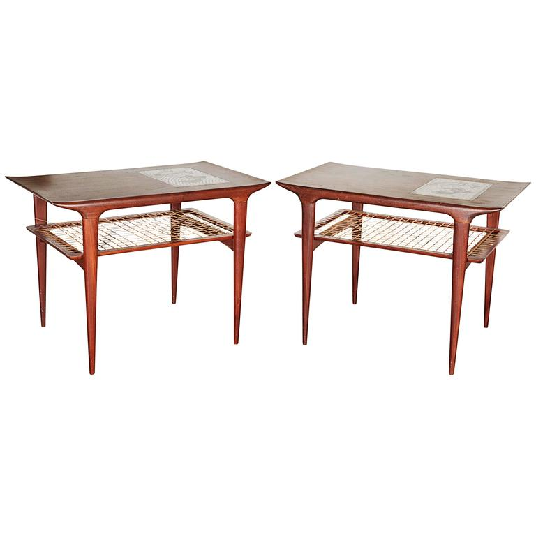 Mid Century Side Table by Johannes Andersen, Pair 1