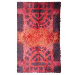 "Rya Rug by Riva Puotila ""Fireside Evening"""