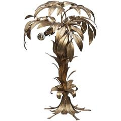Hans Kögl Gold-plated Palm Table Lamp