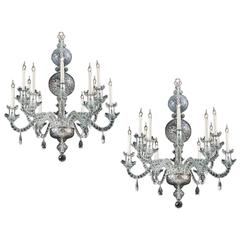Pair of George II Style Chandeliers
