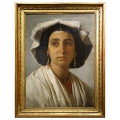 Portrait of a Roman Woman Attributed to J.V. Schnetz (1787-1870)