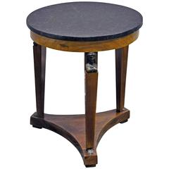Early 20th Century Empire Style Gueridon with Marble Top