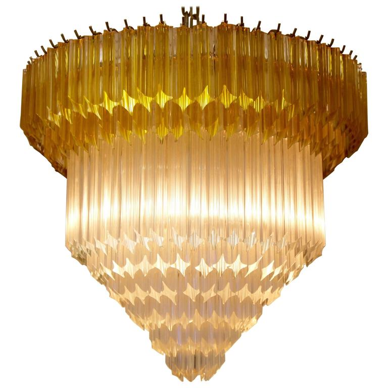 Chic Vintage Style, Crystal, Murano Chandelier