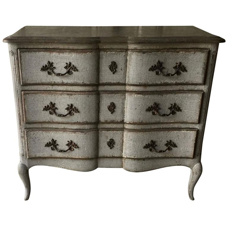 19th century louis xv style painted french commode arbalete at 1stdibs. Black Bedroom Furniture Sets. Home Design Ideas