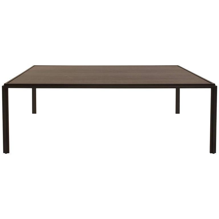 metal and oak jan coffee tablevincent van duysen for molteni