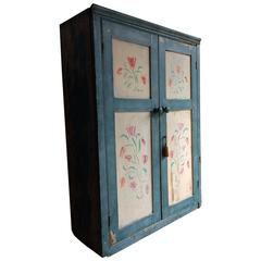 Antique Hall Cupboard Cabinet Solid Pine Victorian 19th Century Rustic