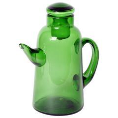 Green Empoli Glass Tea Pot