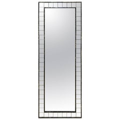 Full Length Mirror with Acid Washed Wood Frame