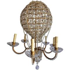 Mid-Century Italian Hot Air Balloon Chandelier