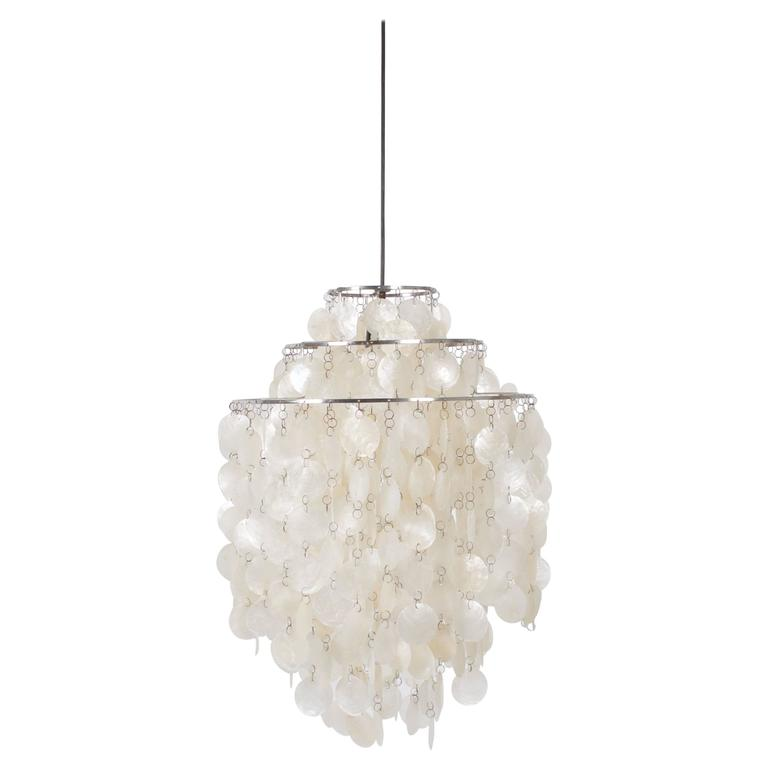 Early Verner Panton Fun 1DM Chandelier