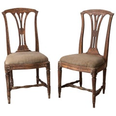 Pair of Late 1700s Swedish Gustavian Chairs
