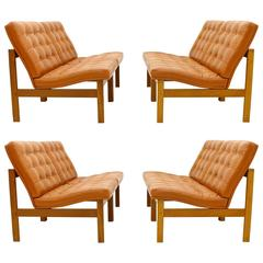 Set of Four Lounge Chairs by France and Son, Denmark, 1962