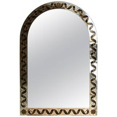 Églomisé Mirror with Ribbon Motif