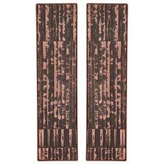Large Scale Copper and Steel Door Handles