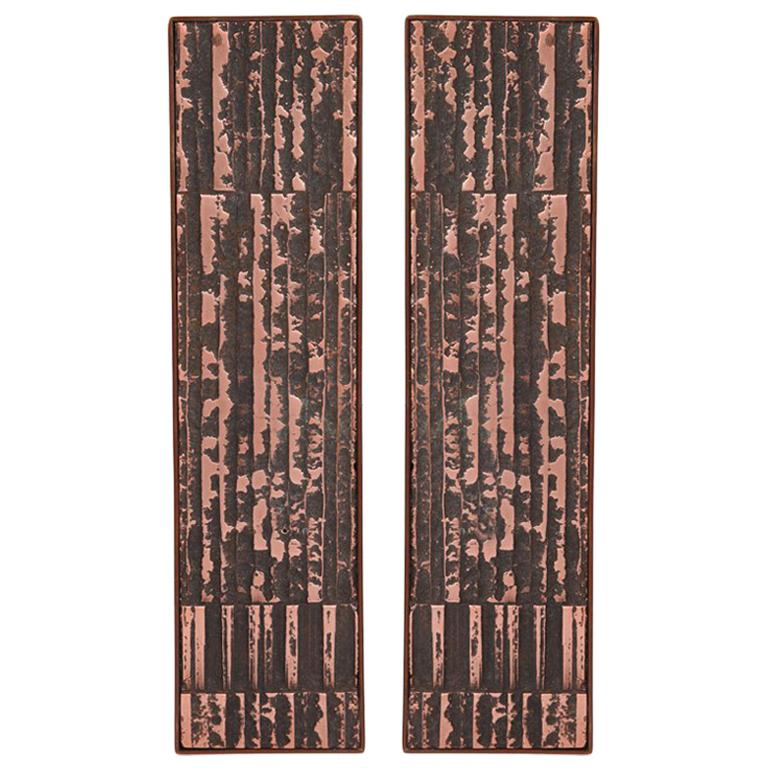 Large Scale Copper and Steel Door Handles For Sale