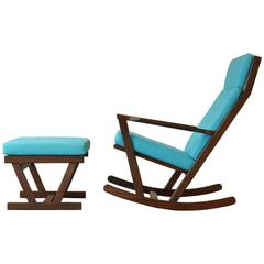 Vintage Rocking Chair by Poul Volther for Frem Rojle in Afromosia/Teak, 1960s