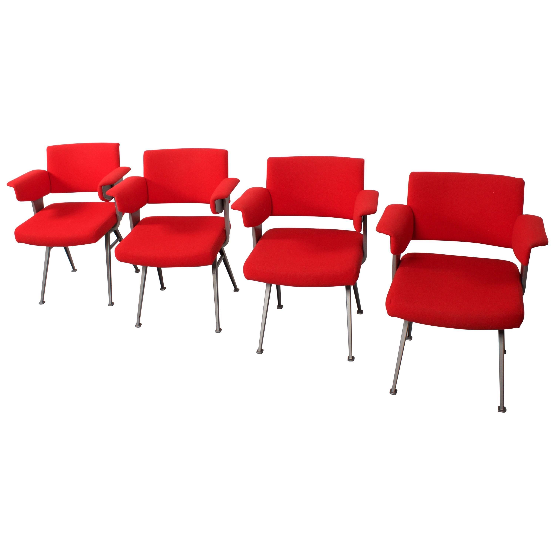 """Set of Four Industrial Friso Kramer """"Resort"""" Chairs for Arend De Cirkel"""
