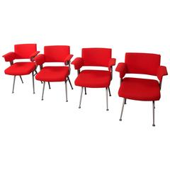 "Set of Four Industrial Friso Kramer ""Resort"" Chairs for Arend De Cirkel"