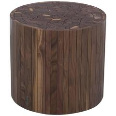 Round Stoolen by Uhuru Design in Black Walnut, End Table / Stool / Coffee Table
