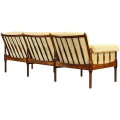 Vintage Danish Rosewood Sofa / Settee by Torbjorn Afdal for Bruksbo