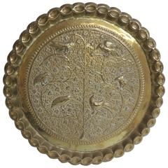 HOLIDAY SALE: Vintage Persian Round Serving Tray