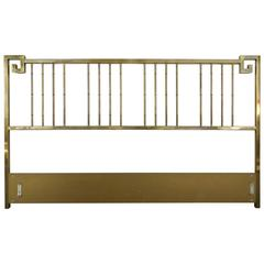 Mid-Century Modern Mastercraft King Brass Headboard