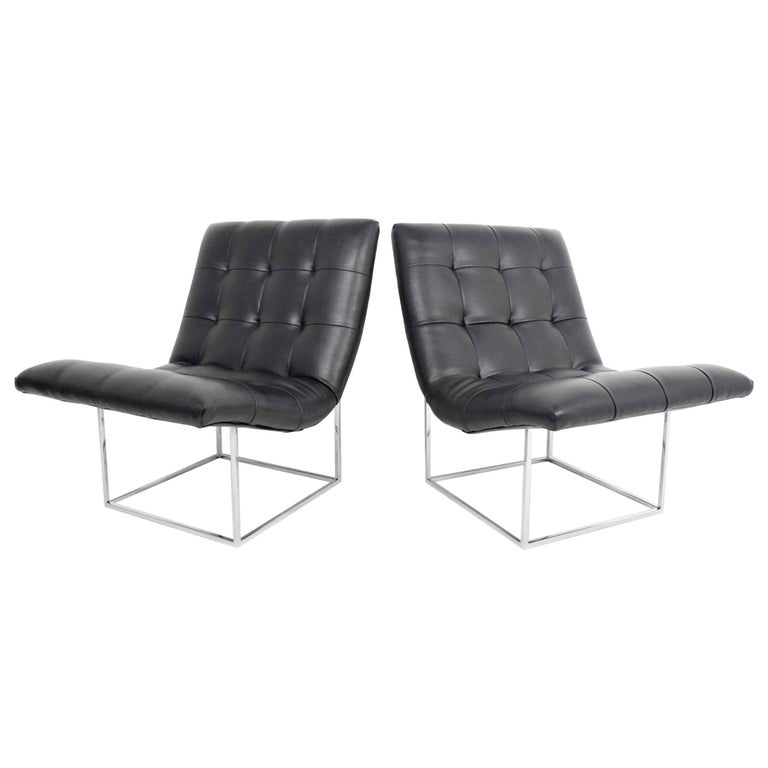 Pair of Milo Baughman for Thayer Coggin Lounge Chairs For Sale