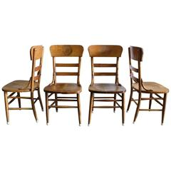 Rare Pre Prohibition Jung Brewery Tavern Chairs