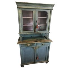 Swedish Gustavian Glass Top Cabinet