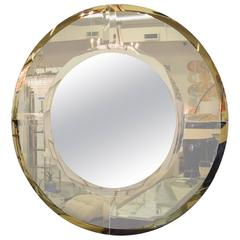 Large Saturn Mirror by Karl Springer